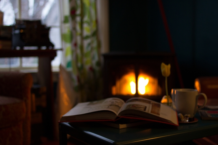 Book & Fireplace